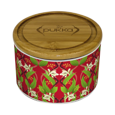 Pukka Revitalise Ceramic Tea Caddy Filled