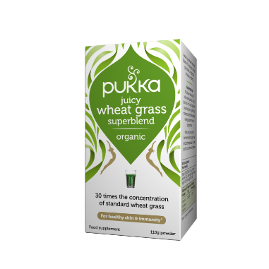 Pukka Herbs Organic Juicy Wheat Grass Supplement x 110g Powder