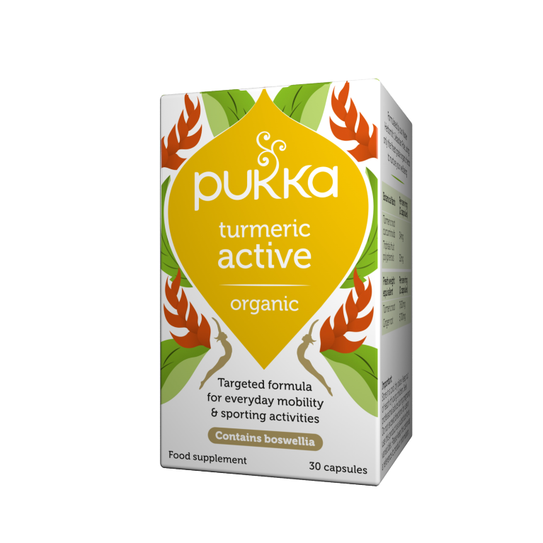 Pukka Herbs Organic Turmeric Active Supplement x 30 Capsules