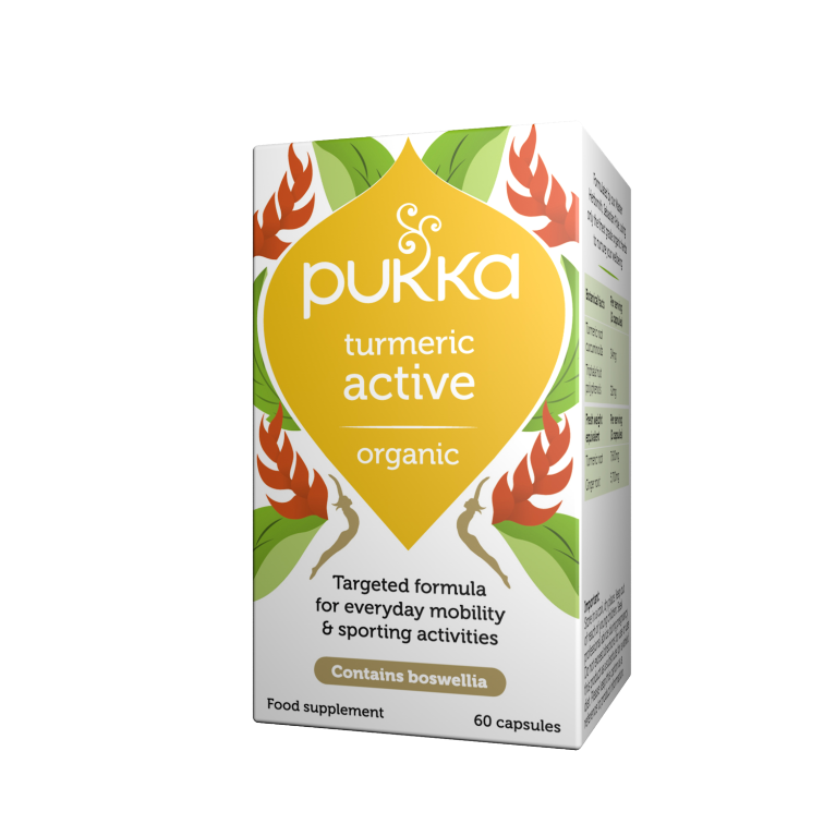 Pukka Herbs Organic Turmeric Active Supplement x 60 Capsules