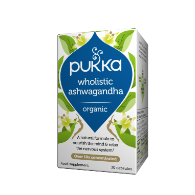Pukka Herbs Organic Wholistic Ashwagandha Supplement x 30 Capsules