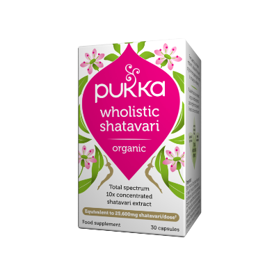 Pukka Herbs Organic Wholistic Shatavari Supplement x 30 Capsules
