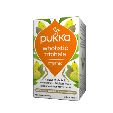 Pukka Herbs Organic Wholistic Triphala Supplement x 30 Capsules