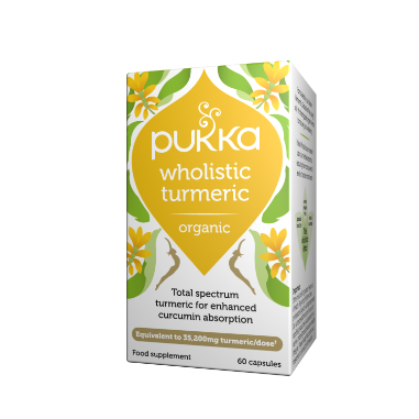Pukka Herbs Organic Wholistic Turmeric Supplement x 60 Capsules
