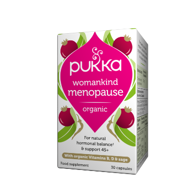 Pukka Herbs Organic Womankind Menopause Supplement x 30 Capsules