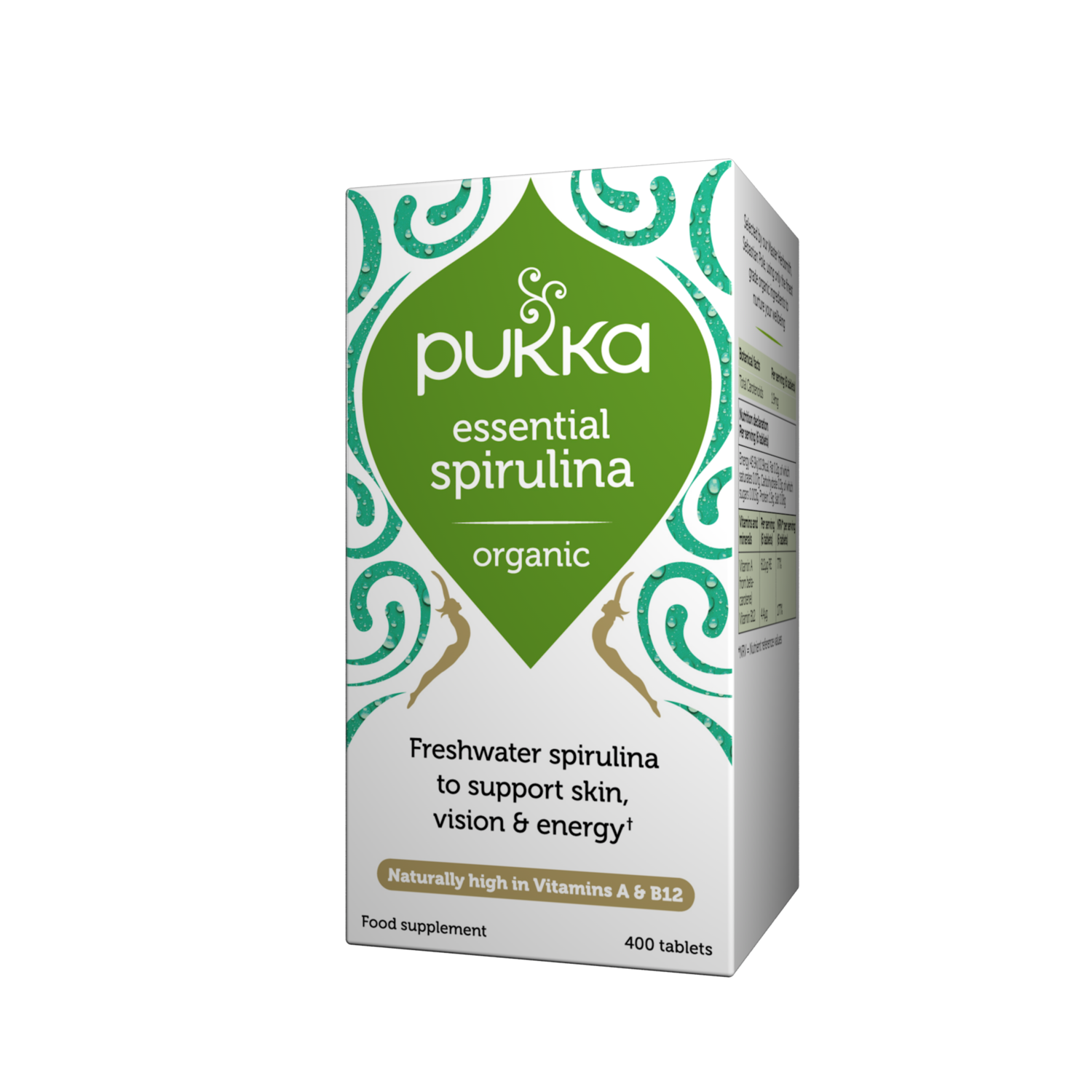 Pukka Herbs Organic Essential Spirulina Supplement x 400 Capsules
