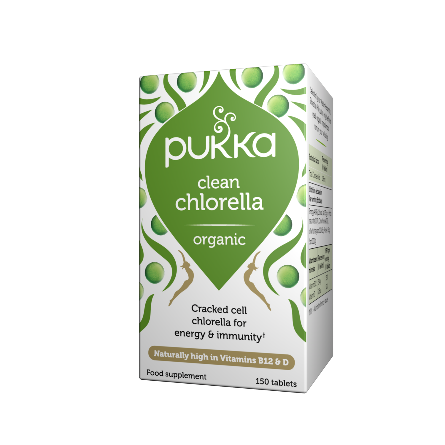 Pukka Herbs Organic Clean Chlorella Supplement x 150 Capsules